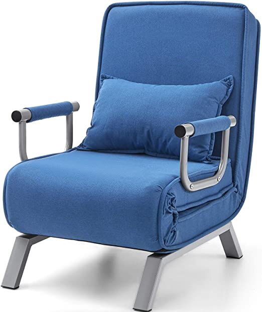 Kealive Sofa Chair Fold Out Bed with Arm Single Sofa.