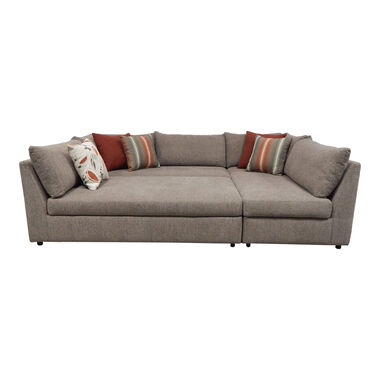Rent to Own Woodhaven 3-Piece Puzzle Chaise Sectional Sofa at.