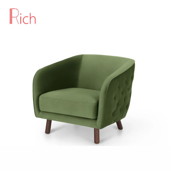 China Green Modern European Fabric Button Back Couch Home Living.