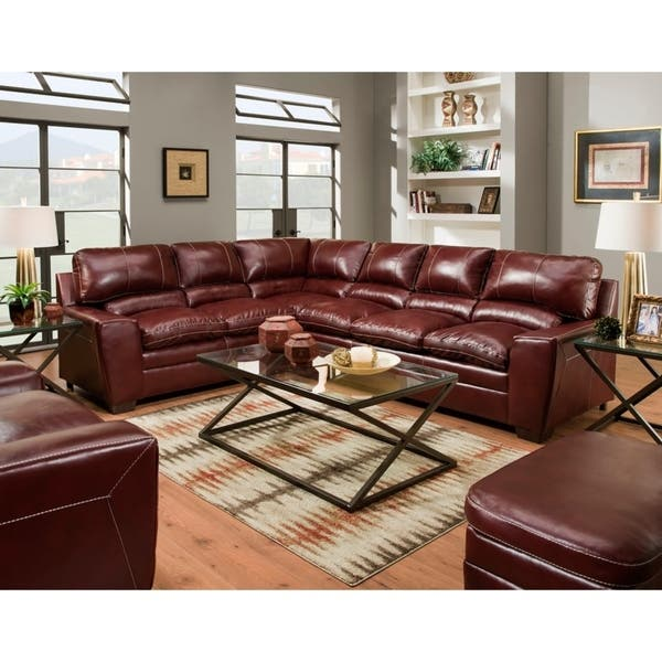 Shop Simmons Upholstery Charlotte Sectional Sofa - Overstock.