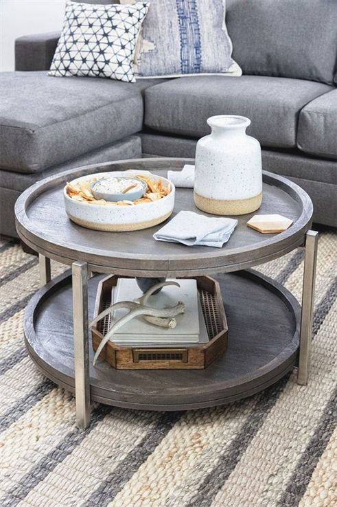 Table basse ronde Swell |  Table basse petit espace, table basse.