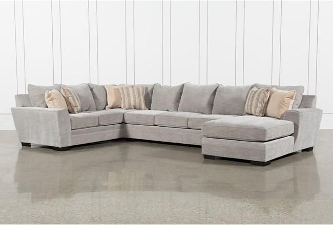 Sofa sectionnel 3 pièces Delano Smoke - 360    Chambre chic minable, minable.