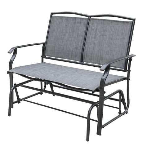 Sundale Outdoor Causeuse 2 personnes Glider Bench Chair Patio Porch.