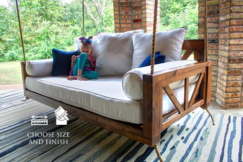 Avery Wood Porch Swing Bed Daybed, Twin ou Crib Size par James and.