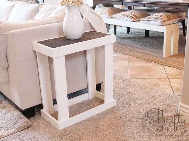 Table d'appoint rectangle bricolage