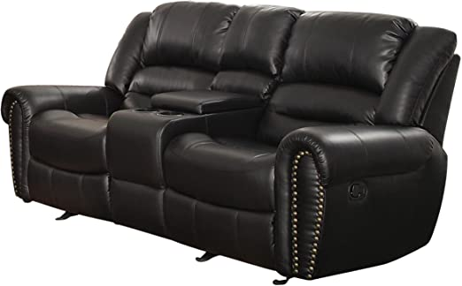 """Amazon.fr: Homelegance Center Hill 83 """"Double Leather Bonded."""