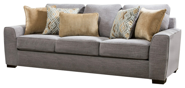 Lane Home Furnishings Pompeii Silver Sofa - Transitionnel - Canapés.