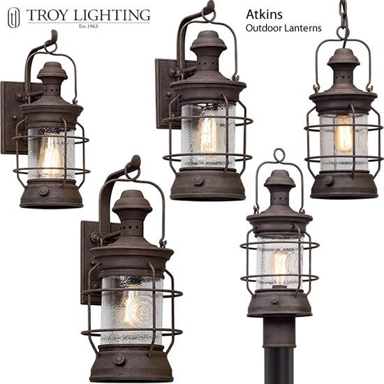 Troy Lighting Atkins Reproduction Railroad Lanterns Outdoor.