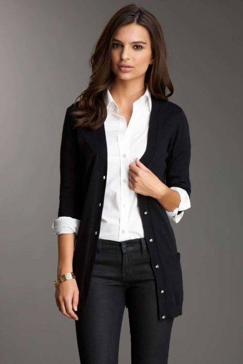 Cardigan Outfits For Work 56 |  Mode, mode de travail, cardigans.